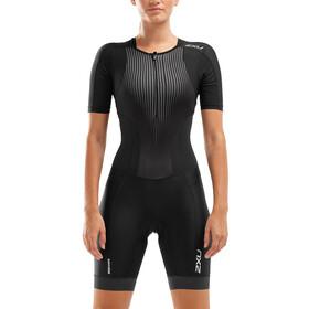 2XU Perform Strój triathlonowy na zamek błyskawiczny Kobiety, black/shadow